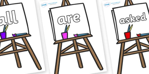 Tricky Words on Easel - Tricky words, DfES Letters and Sounds, Letters and sounds, display, words