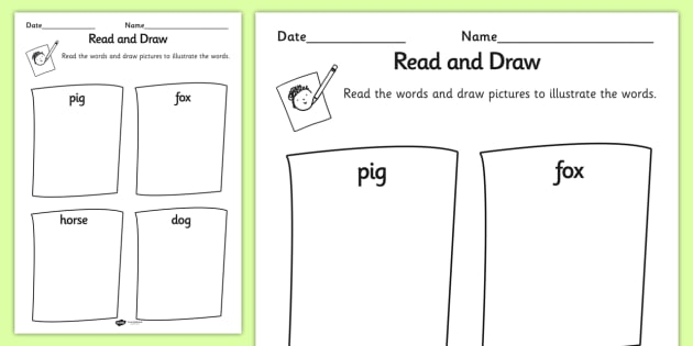 The Gingerbread Man Read and Draw Worksheet - read, draw, sheet