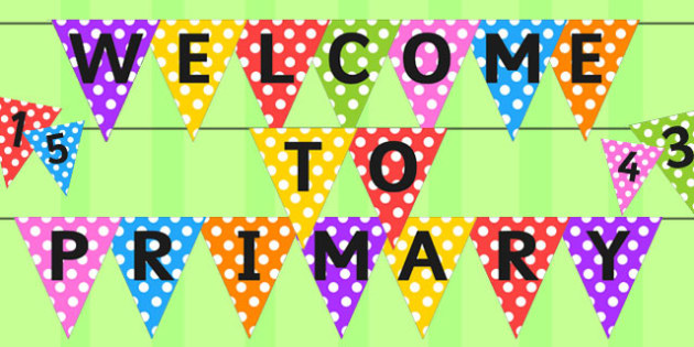 Welcome to Primary Scotland Bunting - bunting, scotland, primary