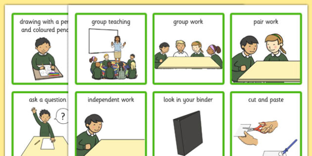 Classroom Visual Aid Cards - classroom, visual aid, cards, visual, aid
