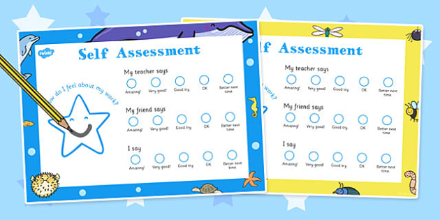 Child Self-Assessment Sheets Smiley Face - self-assessment, smile