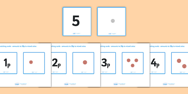 Money Matching Cards (to 20p - Mixed Coins) - Money, coins, pounds, pence, foundation numeracy, coin, pay, matching cards, matching, game, shop, addition, prices, price