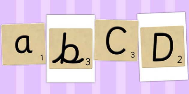 A to Z on Letter Tiles - a, z, alphabet, letters, scrabble, tiles