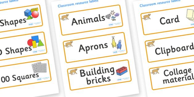 Puma Themed Editable Classroom Resource Labels - Themed Label template, Resource Label, Name Labels, Editable Labels, Drawer Labels, KS1 Labels, Foundation Labels, Foundation Stage Labels, Teaching Labels, Resource Labels, Tray Labels, Printable labe