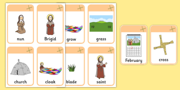 Saint Brigid's Cloak Vocabulary Flashcards - saint brigid, irish history, ireland, saint, patron, vocabulary, flashcards