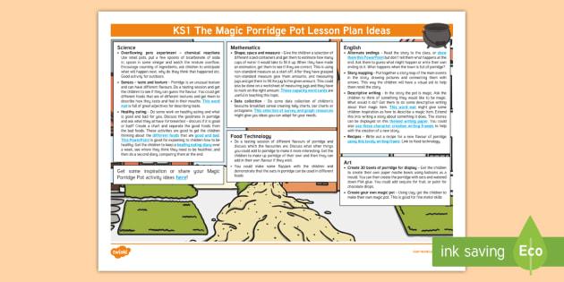 The Magic Porridge Pot Lesson Plan Ideas KS1 - the magic porridge pot, the magic porridge pot lesson ideas, the magic porridge pot lesson plan, lesson plan