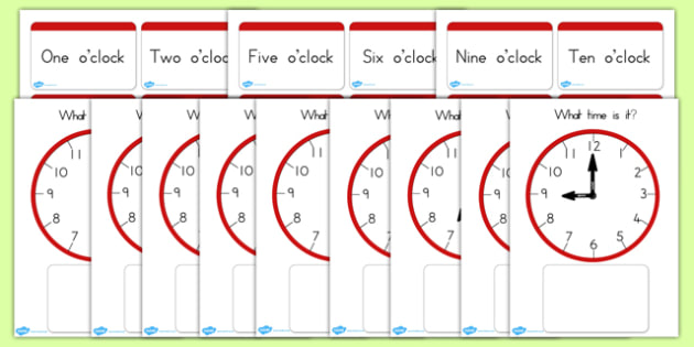 Clock Matching Game O Clock - clocks, time, matching, match, game