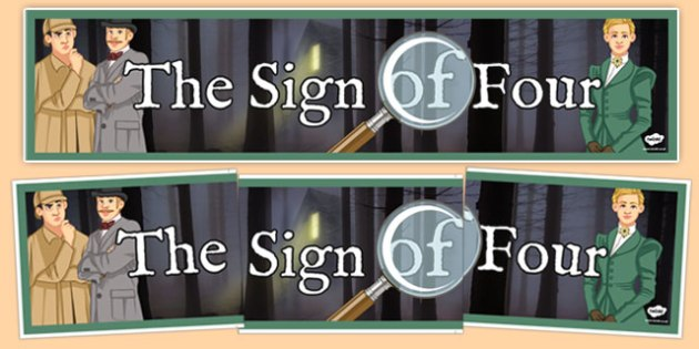 Sign of Four Characters Banner - sign, four, sign of four, characters, banner, display