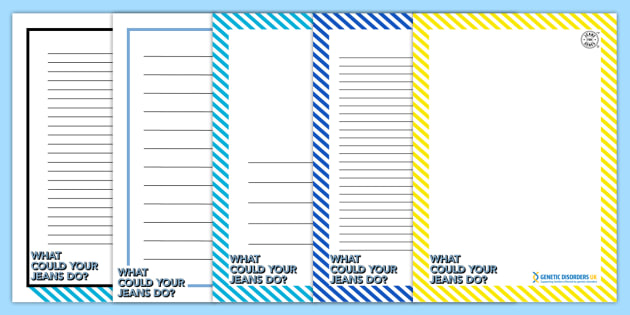 Jeans for Genes Day Page Border Primary Resources - Page borders