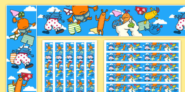 Display Borders to Support Teaching on Aliens Love Underpants - aliens love underpants, display borders, display, borders, borders for display, classroom display, themed borders