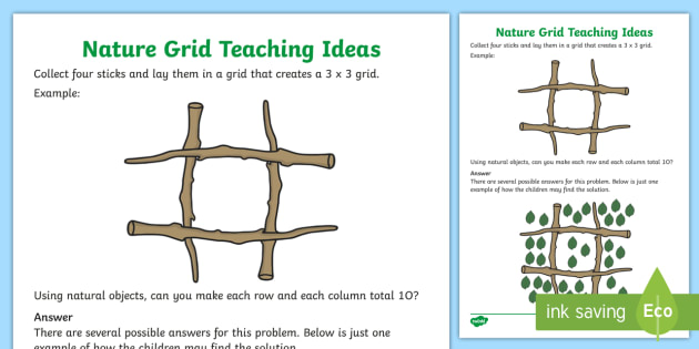 Nature Grid Maths Mastery Teaching Ideas