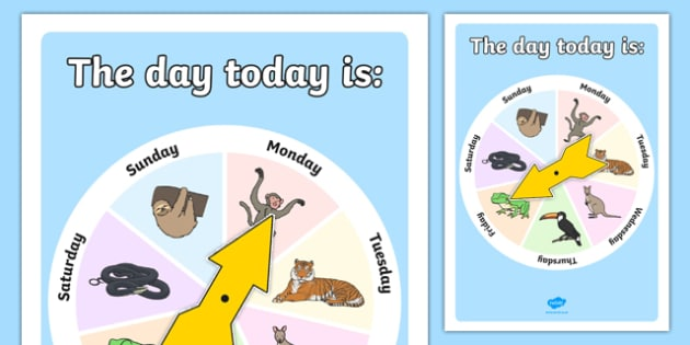 The Day Today Display Chart - day, today, display chart, display, chart