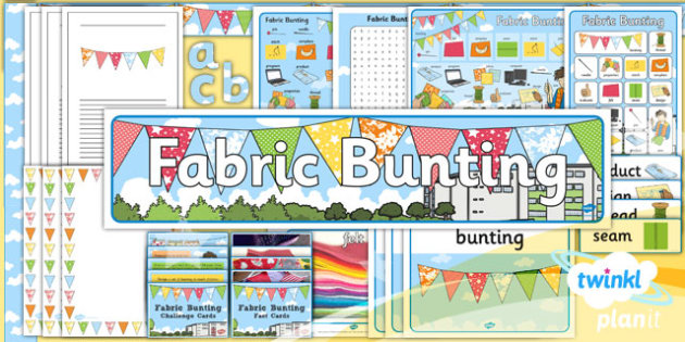PlanIt - DT KS1 - Fabric Bunting Unit: Additional Resources