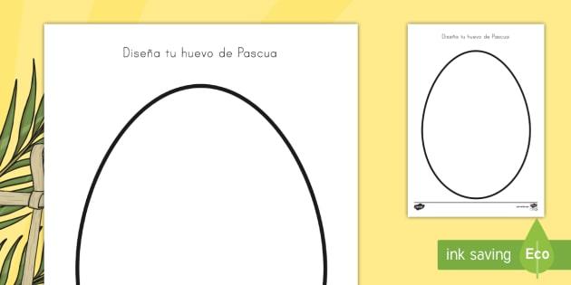Ficha de actividad: Diseña tu huevo de Pascua - Diseñar tu huevo de Pascua, huevo de pascua, dibujar huevo de pascua, semana santa, chocolate, dibu