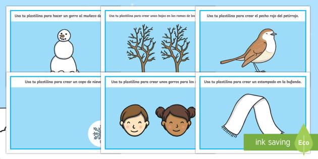 Winter Playdough Mats Spanish - Winter, KS2, playdough, mats, activities,Spanish