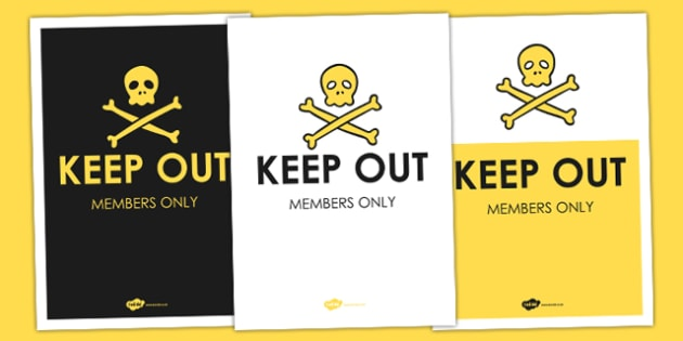 Keep Out Sign - keep out, signs, home signs, parents, roleplay