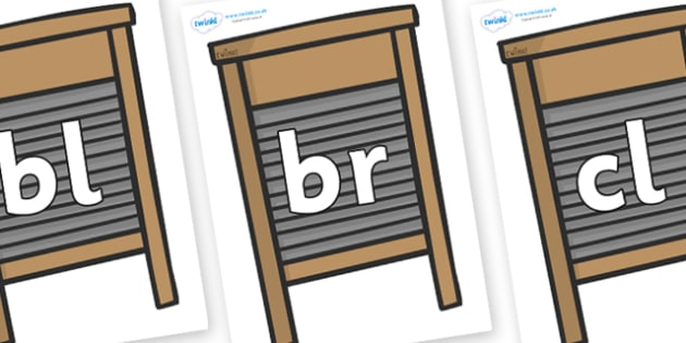 Initial Letter Blends on Washing Boards - Initial Letters, initial letter, letter blend, letter blends, consonant, consonants, digraph, trigraph, literacy, alphabet, letters, foundation stage literacy