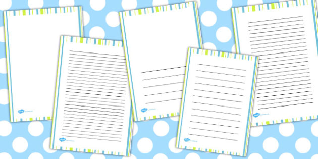 Green Stripe Portrait Page Borders - page borders, green, stripe
