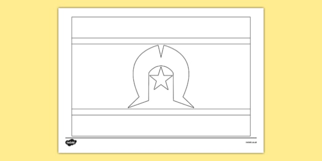 Flags of Australia Torres Strait Islander Flag colouring page - australian, geography, areas, different, display, colourful, classroom, visual aid, early years, ks1, key stage 1, ks2, key stage 2, regions, country, nation, people, art, sheet, act