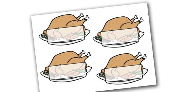 Self Registration Christmas Turkeys Editable  - christmas, xmas