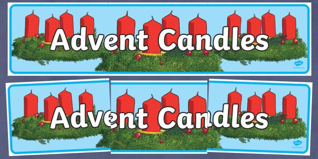 Advent Candles Banner - Christmas, Nativity, Jesus, xmas, Xmas, Father Christmas, Santa, St Nic, Saint Nicholas, traditions
