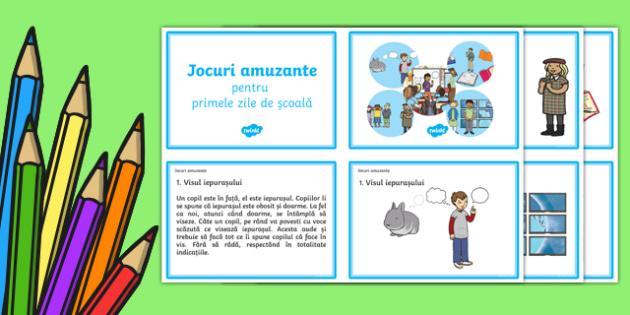 5 jocuri pentru clasă Joc-Romanian