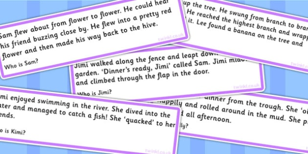 Who Are They Infer From The Text Cards - SEN, cards, games