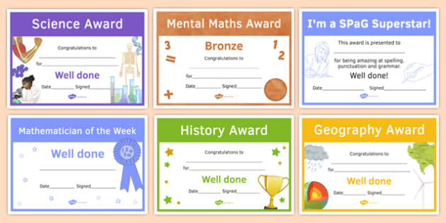 Awards and Certificates Resource Pack
