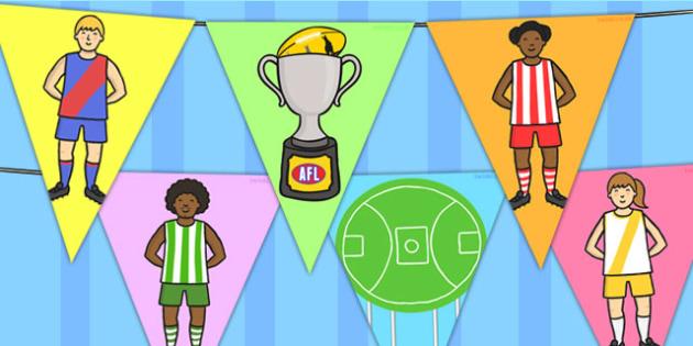 Australian Football League Bunting - AFL, display, sport, flags