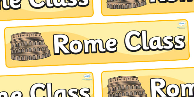 Rome Themed Classroom Display Banner - Themed banner, banner, display banner, Classroom labels, Area labels, Poster, Display, Areas
