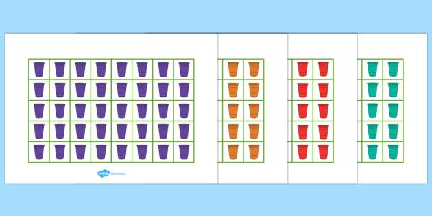 Rain Cup Colour Pictogram - rain cup, colour, pictogram, rain, cup, colouring, colours