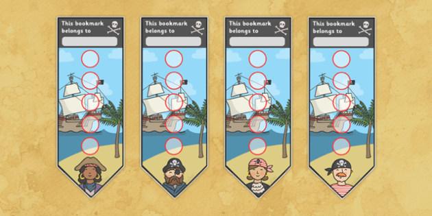 Pirate Sticker Reward Bookmarks (15mm) - Pirate Reward Bookmarks (15mm), pirate, reward bookmarks, bookmarks, reward, 15mm, 15 mm, stickers, twinkl stickers, award, certificate, well done, behaviour management, behaviour, pirate, pirates, ship, islan