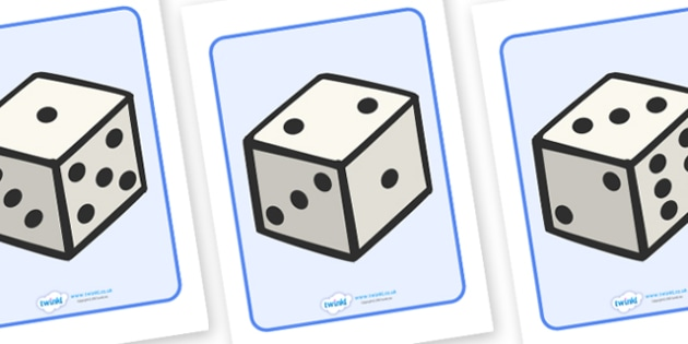 A4 Dice Display Posters - dice, die, numbers, display, poster, sign, banner, numeracy, counting, activity, giant dice, foundation stage numeracy, A4