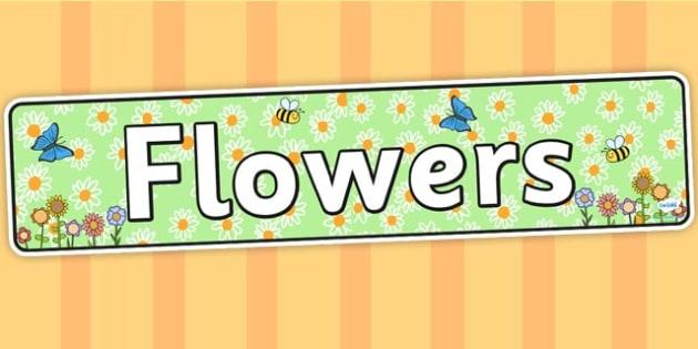 Flowers Display Banner - flower, flower banner, flower display