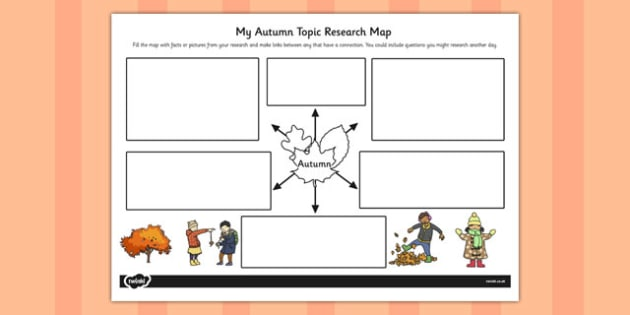 Autumn Topic Research Map - topic, research map, autumn, map