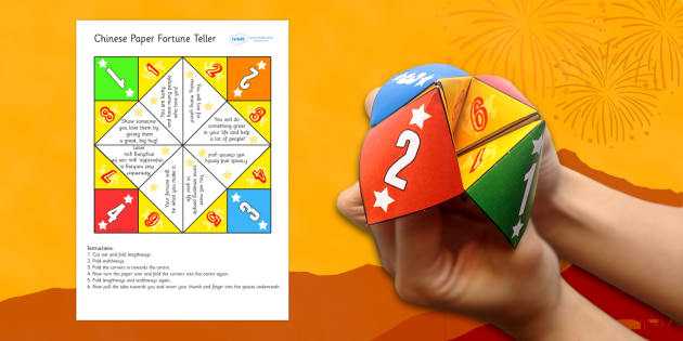 Chinese New Year Paper Fortune Teller - chinese new year, fortune