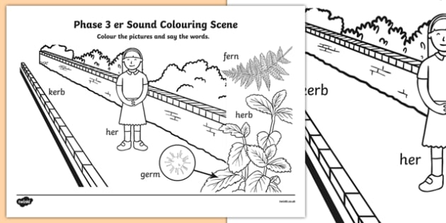 Phase 3 er Sound Colouring Scene