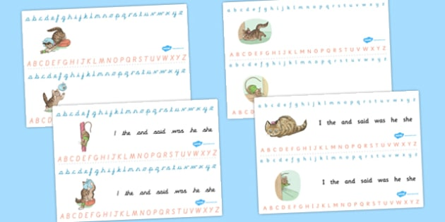 The Story of Miss Moppet Alphabet Strips - miss moppet, alphabet strips, alphabet, strips, beatrix potter