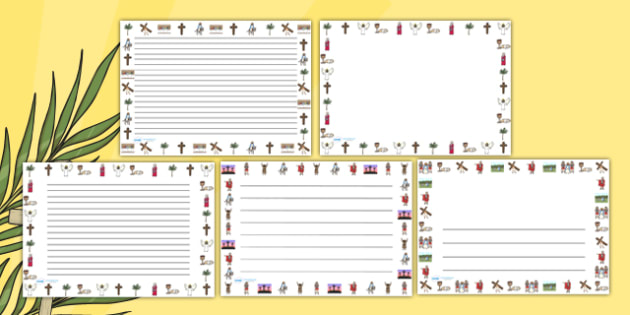 The Easter Story Landscape Page Borders - easter, easter story