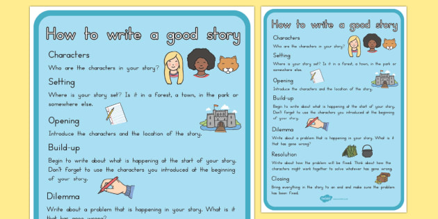 How To Write A Good Story Checklist - writing, stories, story