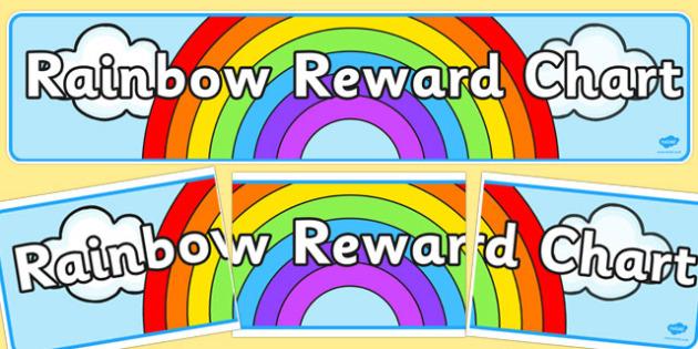 Rainbow Reward Display Banner - rainbow, reward, display banner