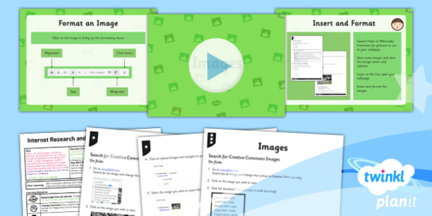 Computing: Internet Research and Webpage Design: Images Year 5 Lesson Pack 4