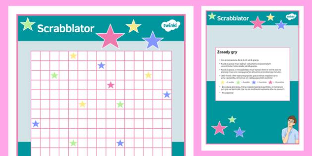 Gra planszowa po polsku Scrabblator - polski, czasowniki, zdania - polish, scrabblateur, board game, board, game, activity