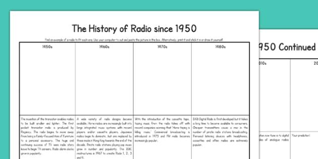 Radio Since 1950 - Digital, transistor, wireless, pirate radio, radio, editable
