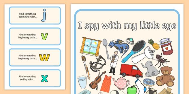 I Spy Phase 3 Set 6 - I Spy, phase 3, activity, game, class, phase, spy, eye