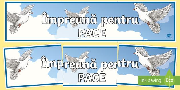 Ziua Internațională a Păcii Banner