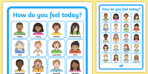 Do You Feel Today? Emotions Chart - Emotions, Today, Chart