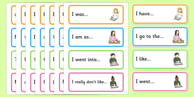 Sentence Starter Cards - Sentence starters, KS1 writing prompts