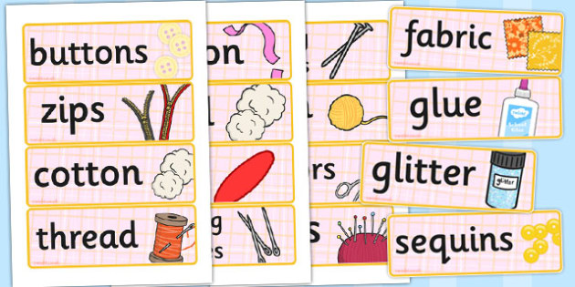 Haberdashery Role Play Labels - haberdashery, role-play, labels