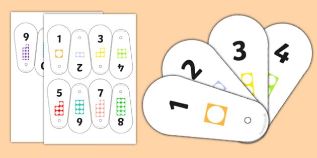 Number Shape Fan 1-10 - number shape, fan, 1-10, number, shape, maths, mathematics, numbers